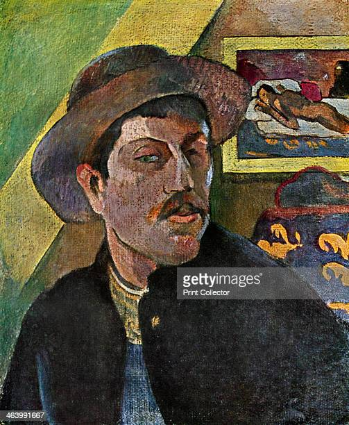 'Self Portrait in a Hat' 18931894 Found in the collection of the Musee d'Orsay Paris France Plate taken from Gauguin by John Rewald published by...