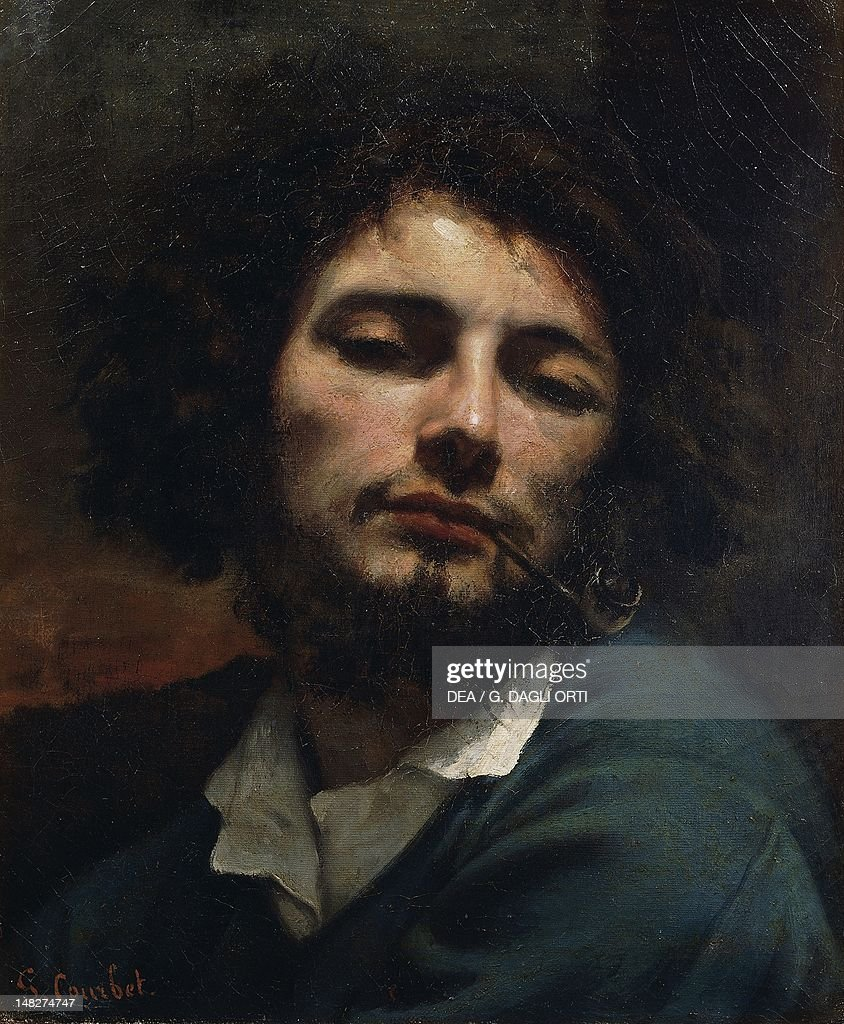 Self portrait known as The man with the pipe by Gustave Courbet Montpellier Musée Fabre