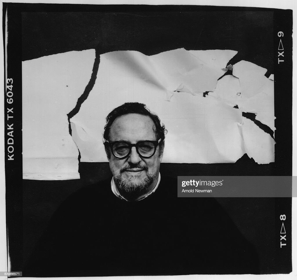 Self portrait of American photographer Arnold Newman, taken in his studio, New York, New York, October 19, 1987.