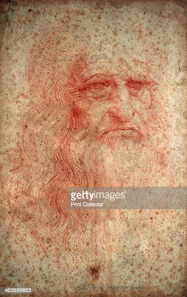 Self portrait of Leonardo da Vinci Italian painter sculptor engineer and architect c1513 Da Vinci's scientific drawings featured ideas such as a...