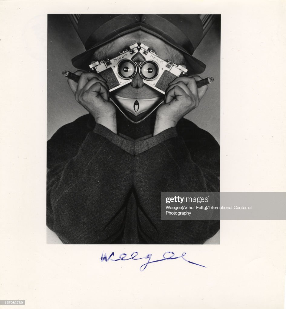 Self Portrait (distortion), twentieth century. (Photo by <a gi-track='captionPersonalityLinkClicked' href=/galleries/search?phrase=Weegee&family=editorial&specificpeople=207086 ng-click='$event.stopPropagation()'>Weegee</a> (Arthur Fellig)/International Center of Photography/Getty Images)