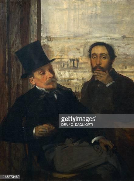 Self Portrait with Evariste de Valernes by Edgar Degas oil on canvas Paris Musée D'Orsay