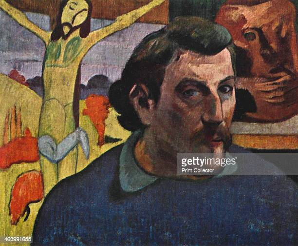 'Self Portrait with the Yellow Christ' 1889 Found in the collection of the Musee d'Orsay Paris France Plate taken from Gauguin by John Rewald...