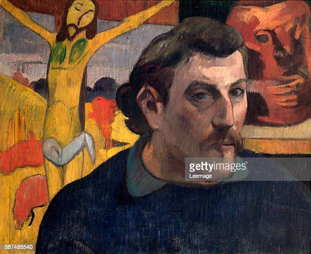 Self Portrait with the Yellow Christ Painting by Paul Gauguin oil on canvas 18901891 Orsay Museum Paris