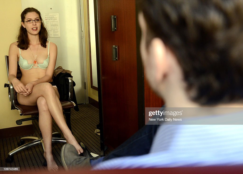 Self proclaimed 'Nude Therapist' Sarah White in set-up therapy session with News reporter. White, a 24-year-old psychology buff, conducts online therapy session in her birthday suit. The naked therapist's unique approach to helping people solve their issues has, she says, aroused interest from dozens of suffering New Yorkers.