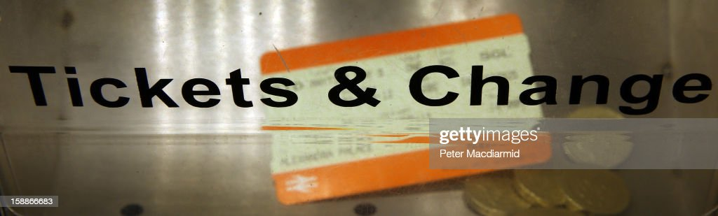 A self service machine dispenses tickets and change at Kings Cross station on January 2, 2013 in London, England. Rail fares have today risen by an average of 4.2% in England, Scotland and Wales, the tenth year in a row that fares have increased above inflation.