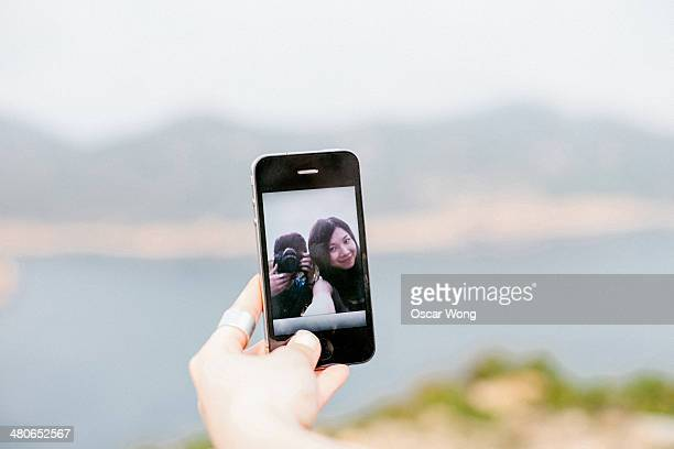 Self snapshot of a young couple