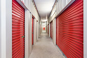 Interiors of a self storage facility