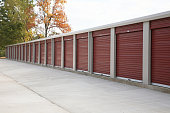 Newly constructed self storage facility.