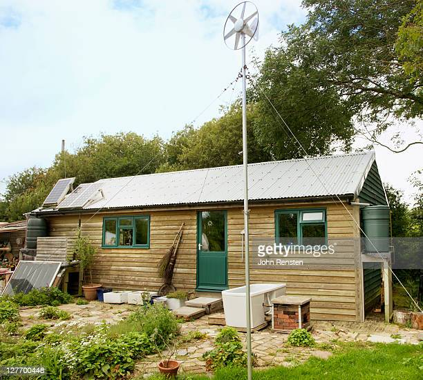 Self sufficient home with solar and wind power