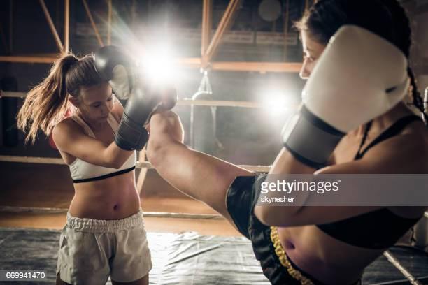 Self-defense in a kickboxing fight!