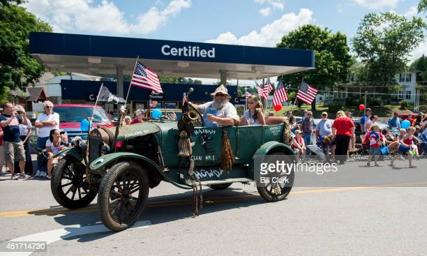 A selfdescribed hillbilly drives his antique Ford in the Ripley 4th of July Parade in Ripley W Va on July 4 2014 The parade is billed as 'the USA's...