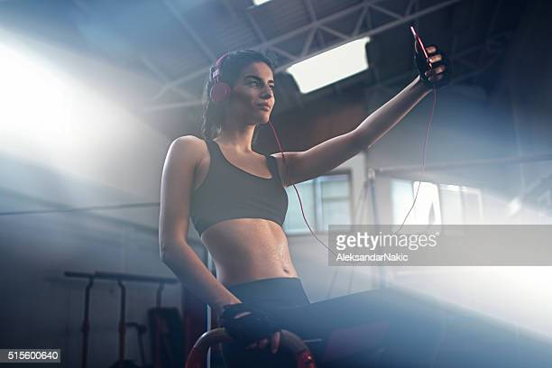 Selfie after intense workout