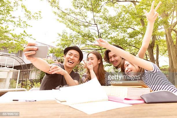 Selfie et Funtime avec College amis