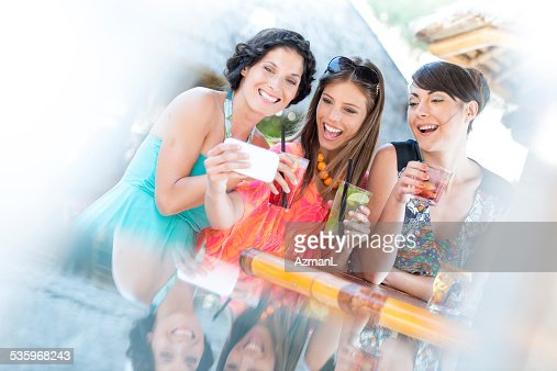 Selfie at the bar : Stock Photo