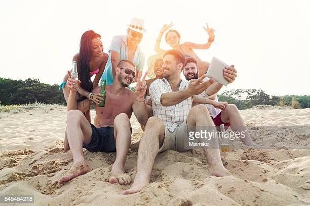 Selfie sur la plage