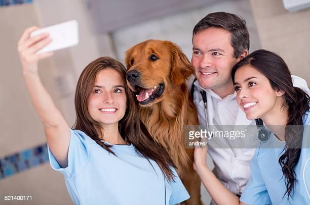 Selfie at the vet