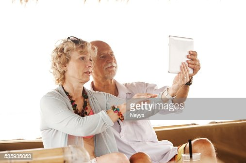 Selfie by the Sea : Stock Photo