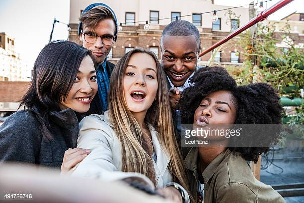 Selfie during a party in New York East Village