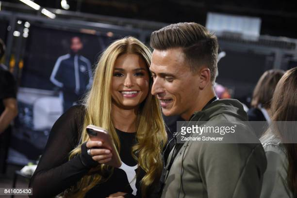 Selfie Hour with Pamela Reif at the Puma Lab during the Bread Butter by Zalando at Arena Hall arena Berlin on September 1 2017 in Berlin Germany