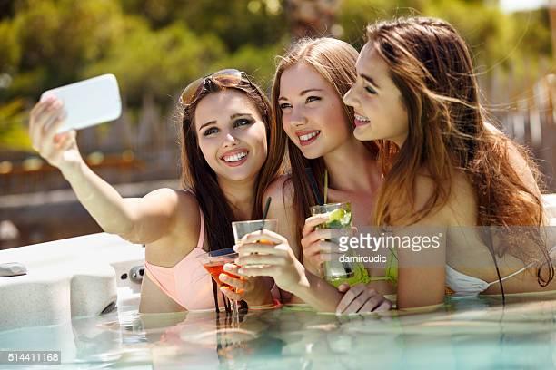 Selfie em um piscina