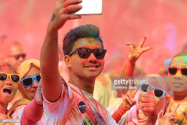 Selfie in color run 2016 Jakarta