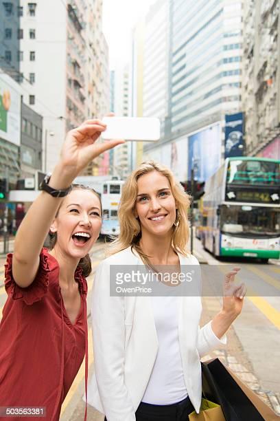 Selfie in Hong Kong Street