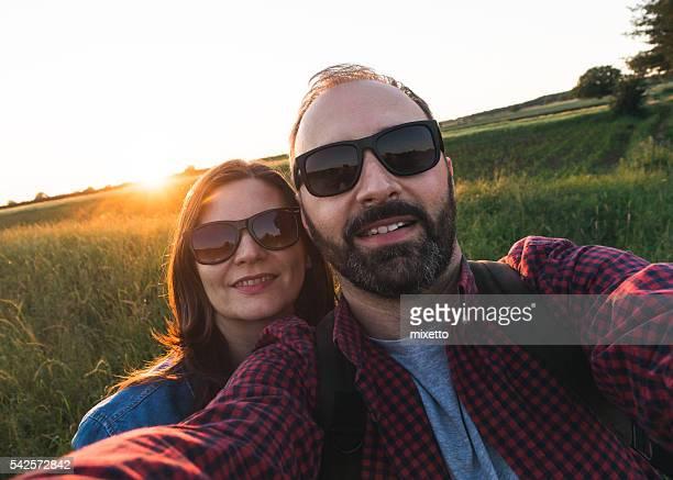 Selfie dans la nature