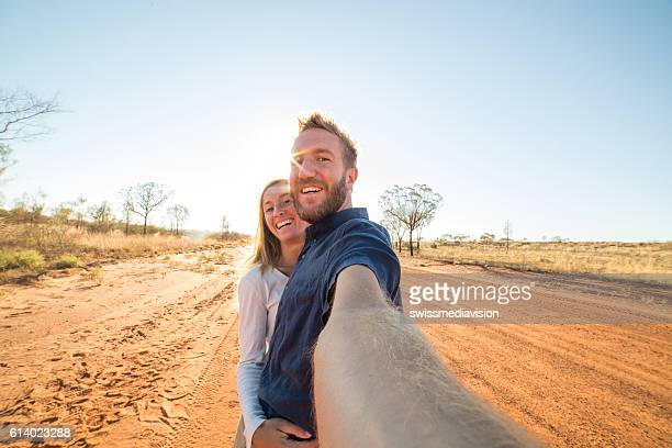 Selfie in the Australian outback