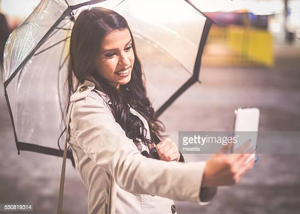 Selfie in the rain