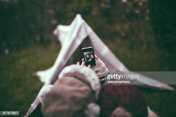 Selfie on Camping Holiday
