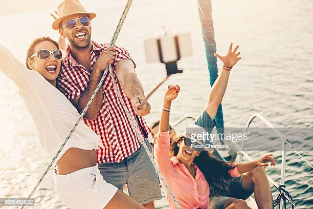 Selfie on the yacht