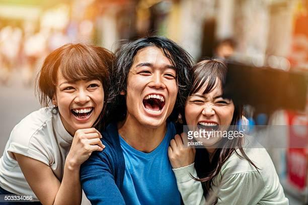 セルフィー日本の人々