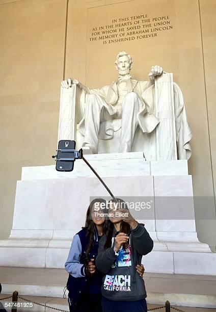 Selfie Stick at Lincoln Memorial