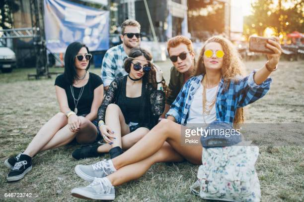 Selfie with festival friends