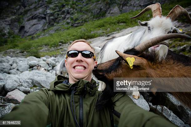 Selfie with goats