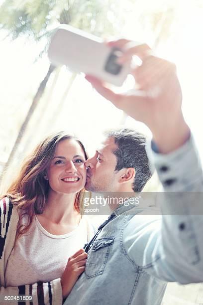 Selfie avec baiser