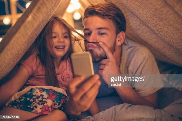Selfie avec ma petite fille