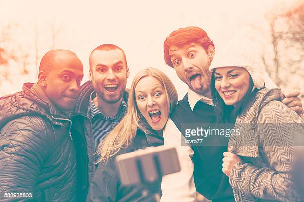 Selfie with selfie stick
