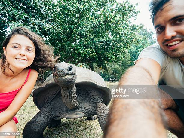 Selfie with the giant turtle