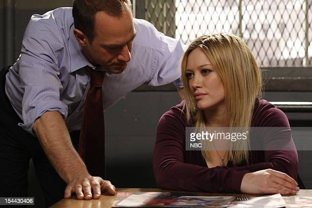 UNIT 'Selfish' Episode 1019 Pictured Christopher Meloni as Det Elliot Stabler Hilary Duff as Ashlee Walker