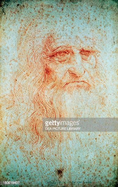 SelfPortrait 15121515 by Leonardo da Vinci drawing