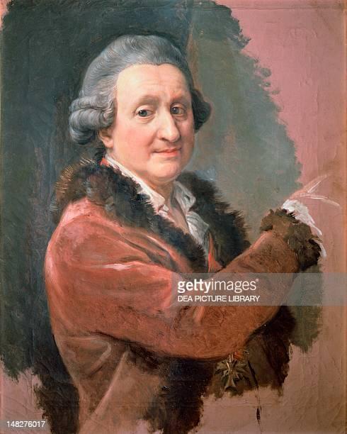 Selfportrait 17731787 by Pompeo Girolamo Batoni oil on canvas 75x61 cm Florence Galleria Degli Uffizi