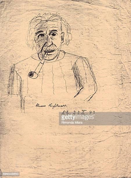 Selfportrait by Albert Einstein