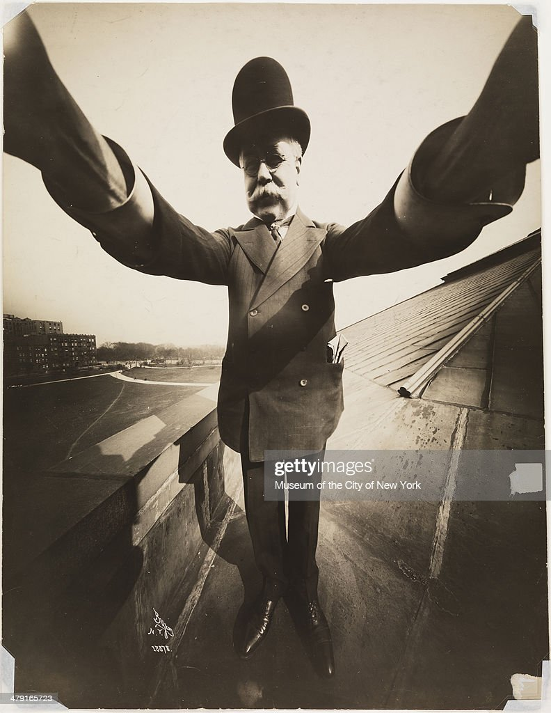 Self-portrait by photographer Joseph Byron (1847 - 1923), New York, 1909. He was the founder of the Byron Company photographic studio.