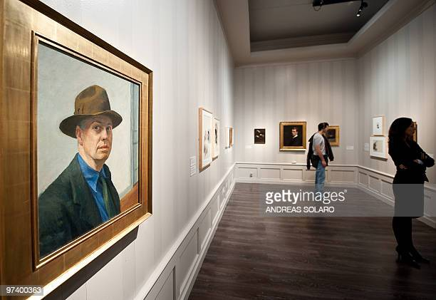 ROUX SelfPortrait by US artist Edward Hopper is displayed on February 24 2010 during the first opening of exhibition running from February 16 to June...