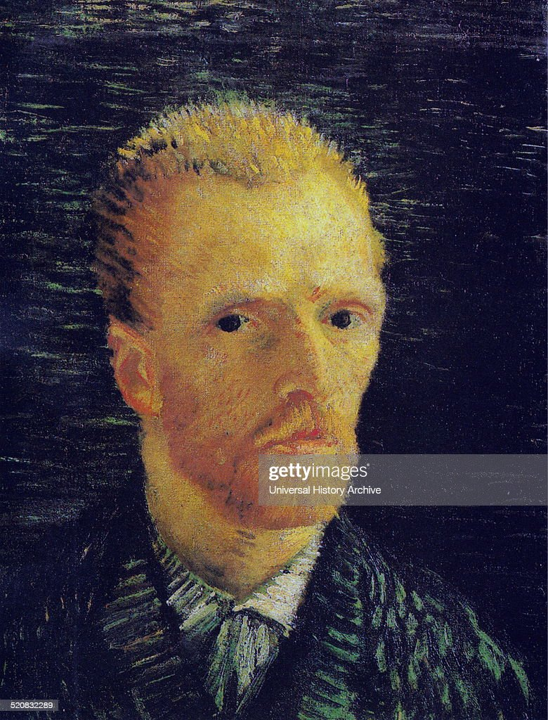 'Self-Portrait' by <a gi-track='captionPersonalityLinkClicked' href=/galleries/search?phrase=Vincent+Van+Gogh+-+Painter&family=editorial&specificpeople=79195 ng-click='$event.stopPropagation()'>Vincent Van Gogh</a> (1853-1890) a post-impressionist painter of Dutch origin. Dated 1887.