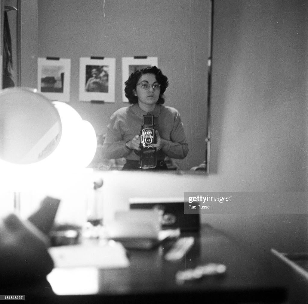 Self-portrait in a mirror of American photographer Rae Russel, Brooklyn, New York, New York, 1948.