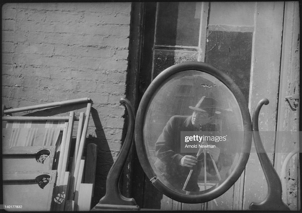 Self-portrait of American photographer Arnold Newman (1918 - 2006), 1930s or 1940s.