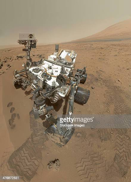 Self-portrait of Curiosity rover in Gale Crater on the surface of Mars.